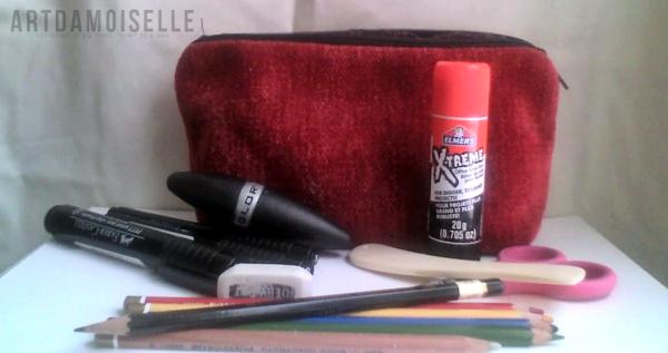 My traveling art kit.  Ooh fancy.